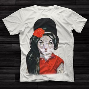 Amy Winehouse White Unisex  T-Shirt - Tees - Shirts