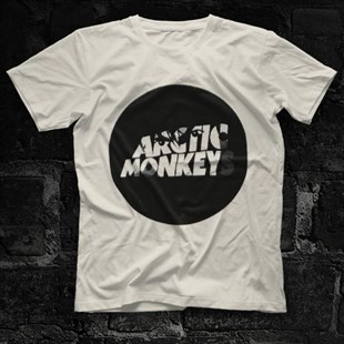 Arctic Monkeys Logo White Unisex  T-Shirt - Tees - Shirts