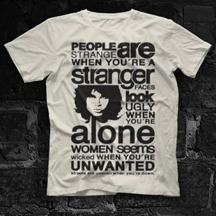 The Doors People Are Strange When Youre A Stranger White Unisex  T-Shirt - Tees - Shirts