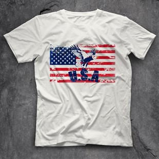 United States White Unisex T-Shirt