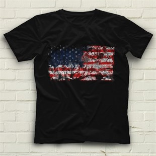 United States Black Unisex T-Shirt