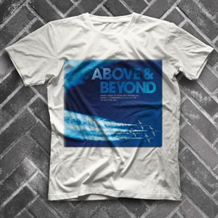 Above and Beyond White Unisex  T-Shirt
