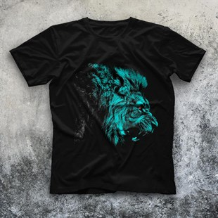 Lion Black Unisex  T-Shirt