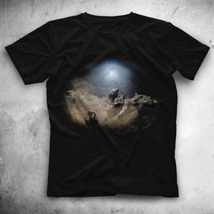 Asteroid Black Unisex  T-Shirt