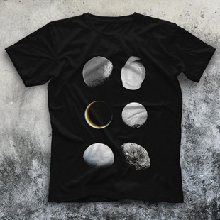 Moon Black Unisex  T-Shirt