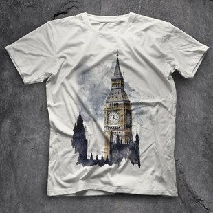 Big Ben White Unisex  T-Shirt