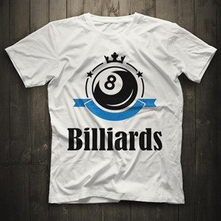 Billiard White Unisex  T-Shirt