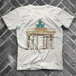 Bradenburg Gate White Unisex  T-Shirt