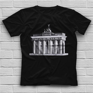 Bradenburg Gate Black Unisex  T-Shirt