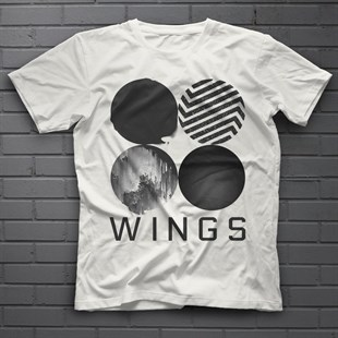 BTS Wings Kpop White Unisex  T-Shirt - Tees - Shirts