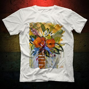 Flower White Unisex T-Shirt