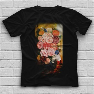 Flower Black Unisex T-Shirt
