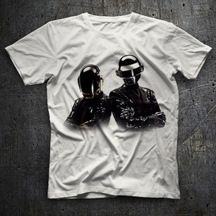 Daft Punk White Unisex  T-Shirt