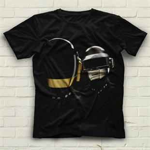 Daft Punk Black Unisex  T-Shirt
