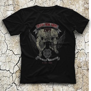 Death from Above Black Unisex  T-Shirt - Tees - Shirts - TisortFabrikasi