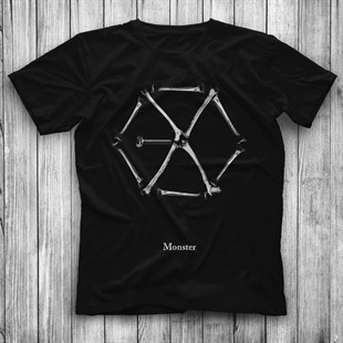 Exo Monster KPop Black Unisex  T-Shirt - Tees - Shirts - TisortFabrikasi