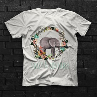 Elephant White Unisex  T-Shirt