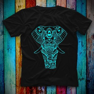 Elephant Black Unisex  T-Shirt