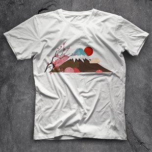 Mount Fuji White Unisex  T-Shirt