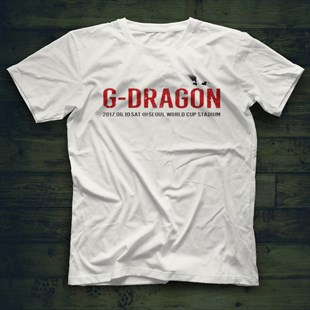 G-Dragon K-Pop White Unisex  T-Shirt - Tees - Shirts
