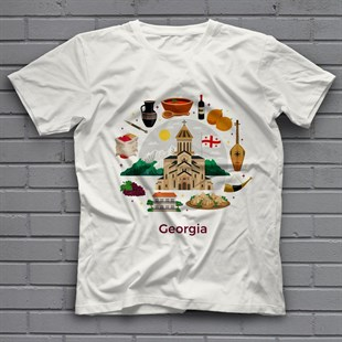 Georgia White Unisex T-Shirt