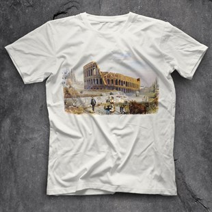 Colosseu White Unisex  T-Shirt