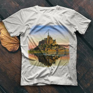 Mont Saint-Michel White Unisex  T-Shirt