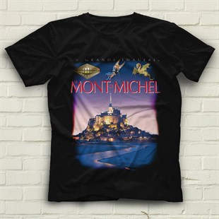 Mont Saint-Michel Black Unisex  T-Shirt