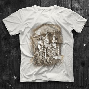 Neuschwanstein Castle White Unisex  T-Shirt