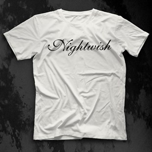 Nightwish White Unisex  T-Shirt - Tees - Shirts - TisortFabrikasi