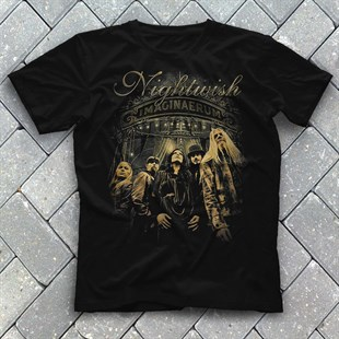 Nightwish Black Unisex  T-Shirt - Tees - Shirts - TisortFabrikasi