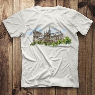 Notre-Dame Cathedra White Unisex  T-Shirt