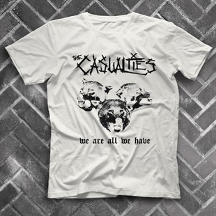 The Casualties White Unisex  T-Shirt - Tees - Shirts