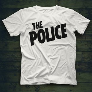 The Police White Unisex  T-Shirt - Tees - Shirts - TisortFabrikasi