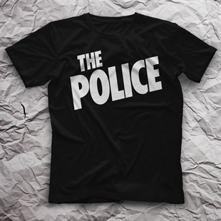 The Police Black Unisex  T-Shirt - Tees - Shirts - TisortFabrikasi