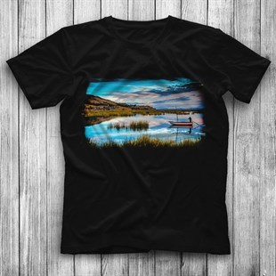 Lake Titicaca Black Unisex  T-Shirt